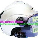 "New Germany ""Tanked 502"" Half Vespa Motorcycle Open Face Racing Cycling Silver Helmet"
