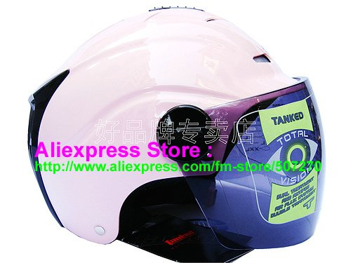 """New Germany """"Tanked 502"""" Half Vespa Motorcycle Open Face Racing Cycling Full Pink Helmet"""