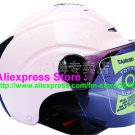 "New Germany ""Tanked 502"" Half Vespa Motorcycle Open Face Racing Cycling Full Pink Helmet"