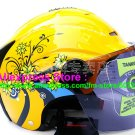 "New Germany ""Tanked 502"" Half Vespa Motorcycle Open Face Racing Cycling Yellow Helmet"