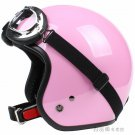 "H.29 Taiwan "" SYC "" ABS Scooter Casco Open Face Motorcycle Full Gloss Pink Helmet & UV Goggles"