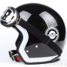"H.41 Taiwan "" EVO "" Retro OFF Road Half Face Casco Motorcycle Black grid Helmet & UV Goggles"