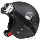 "H.45 Taiwan "" EVO "" OFF Road Open Face Casco Motorcycle ""B.DUCK"" Matt Black Helmet & UV Goggles"