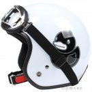 "H.48 Taiwan ""EVO"" 3/4 Half Face Casque Motorcycle "" Black B.DUCK "" Bright White Helmet & UV Goggles"