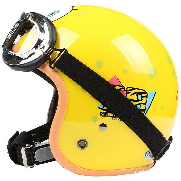 "H.119 Taiwan "" EVO "" OFF Road Casco Motorcycle "" SB "" Bright Yellow Helmet & UV Goggles"
