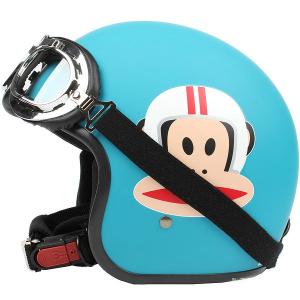 "H.127 Taiwan ""EVO"" Scooter Casque Open Face Casco Motorcycle ""Monkey"" Matt Blue Helmet & Goggles"
