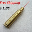 CAL:6.5x55 Cartridge Bore Sighter Red Dot Laser Boresighter Sight Hunting Copper #06