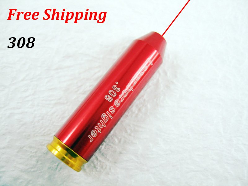 308 New CAL:243/.308WIN-7MM-08REM Cartridge Bore Sighter Red Dot Laser Boresighter Sight Hunting #23