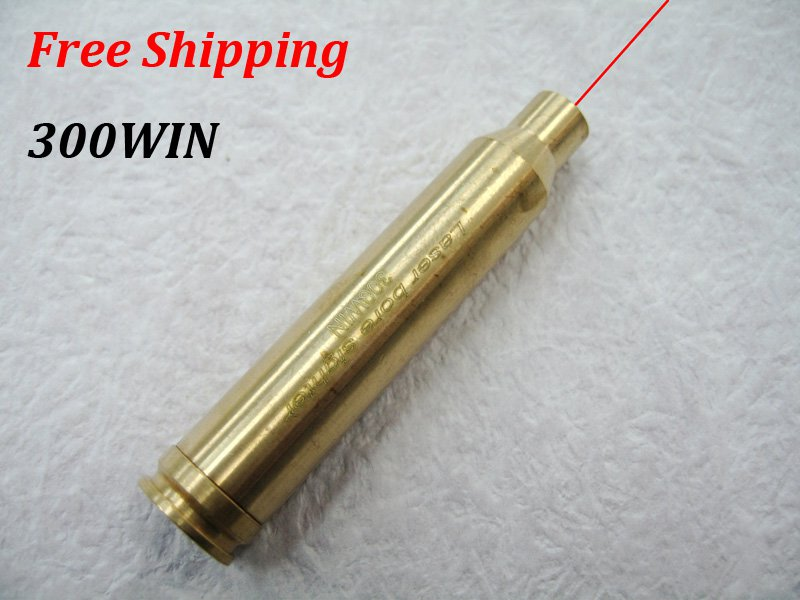 300WIN New CAL:300WIN Cartridge Bore Sighter Red Dot Laser Boresighter Sight Hunting Copper #24