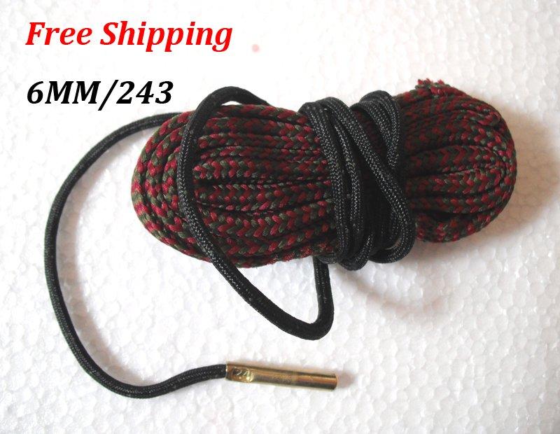 6MM / 243 Caliber Bore Snake Gun Cleaning Pistol Shotgun Cleaner Hunting Rifle #12