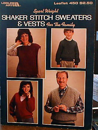 Shaker Stitch Sweaters & Vests For the Family - Knit