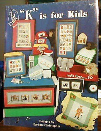 K is For Kids - Cross Stitch in MINT Condition