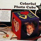 Colorful Photo Cube/Beary Special Messages - Plastic Canvas Pattern