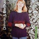 Diamonds & Ribs Pullover - NEW Knit