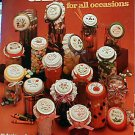 Jar Lids for All Occasions - Cross Stitch