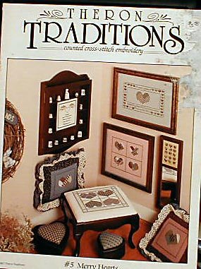 Theron Traditions - Merry Hearts - Cross Stitch
