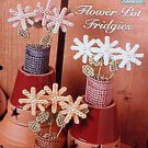 Flower Pot Fridgies - Plastic Canvas Pattern in MINT Condition