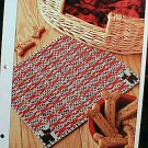 Scottie Plaid Place Mat - EXCELLENT Plastic Canvas Pattern