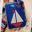 Sailboat Tote - Plastic Canvas Pattern