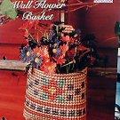 Wall Flower Basket - NEW Plastic Canvas Pattern