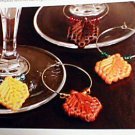 Autumn Leaf Beverage Tags - EXCELLENT Loose Plastic Canvas Pattern