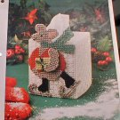 Winter Mouse Tissue Cover - Plastic Canvas Pattern