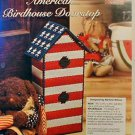 American Birdhouse Doorstop - Plastic Canvas Pattern - EXCELLENT Condition