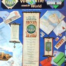 Welcome Around the World - Cross Stitch in EXCELLENT Condition