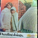 Dazzling Doings - Crocheted Coatsweater, Throw, and Scarf and Cap