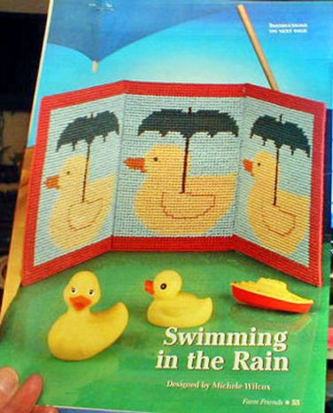 Swimming in the Rain - Loose Plastic Canvas Pattern