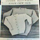 Candide Heavyweight Junior Crew Neck - Knit Pattern in EXCELLENT Condition