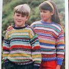 Double Knit - Child's Pullover - Knit Pattern