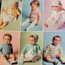 Six for a Beautiful Baby - Knit in Sizes 6 Months - 1 Year