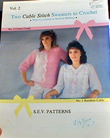 Two Cable Stitch Sweaters to Crochet -