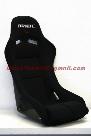 Bride Vios Black Cloth Black FRP with Universal Sliders and side mounts
