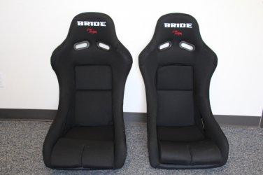 Bride Vios III Black Cloth FRP PAIR Racing Seat