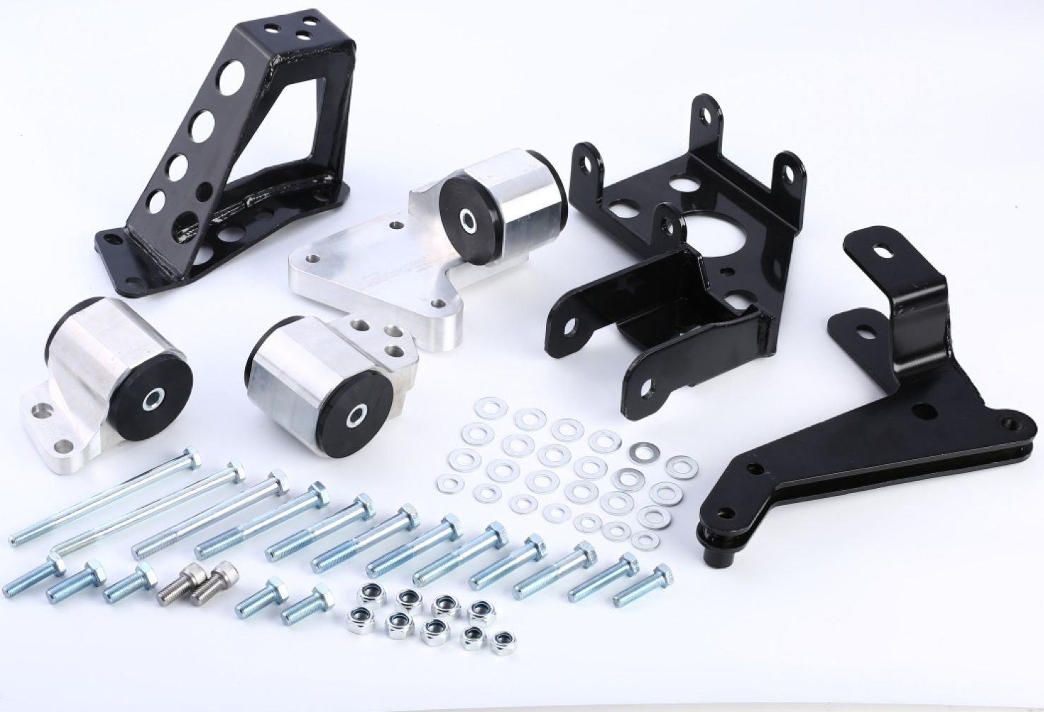 K-SERIES SWAP BILLET ALUMINUM ENGINE MOUNT KIT 92 - 95 HONDA CIVIC EG 94 - 01 DC