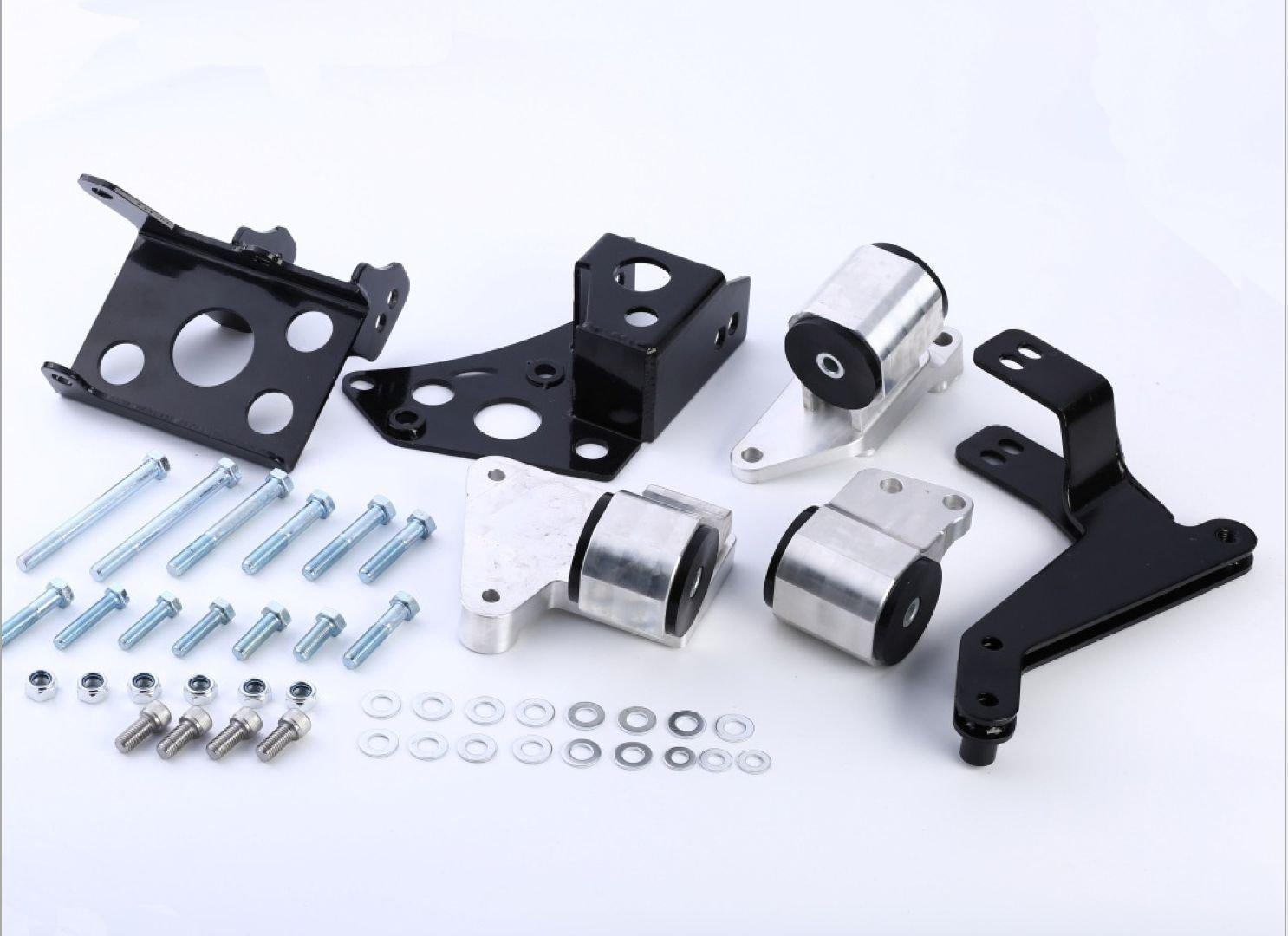 K SERIES SWAP BILLET ALUMINUM ENGINE MOTOR MOUNT KIT 96 - 00 HONDA CIVIC EK K20