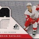 2007-08 SP Game Used Brian Rafalski Authentic Fabrics