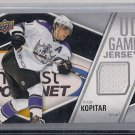 2011-12 Upper Deck Series 1 UD Game Jersey Anze Kopitar