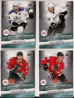 2011-12 Upper Deck Ultimate Team LOT OF 4 CARDS