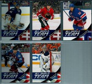 2011-12 Upper Deck All World Team LOT OF 5 CARDS