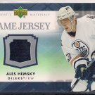 2007-08 Upper Deck Series 1 UD Game Jersey Ales Hemsky