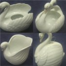 "Set of 4 Each 4"" Global Arts Ceramic Swans"