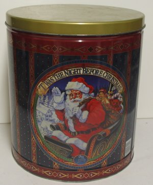 Santa's Large Christmas Tin