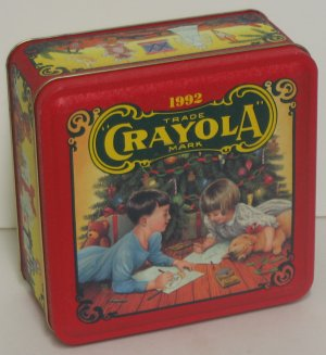 """""""Colorful Holiday Wishes from Crayola, 1992"""" Tin"""