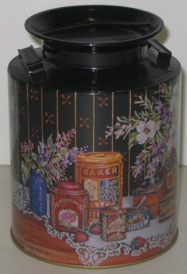 8 Kitchen Canisters Tin