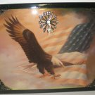 """Spread Winged Eagle in Flight"" Picture Clock"
