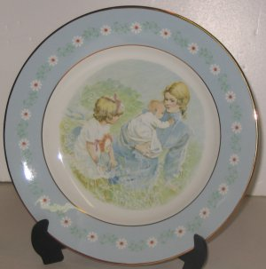 """Avon Tenderness Plate,  1974, """"Mother with Daughter and Baby in Field'"""