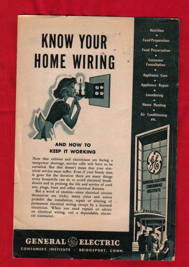 """""""Know Your Home Wiring""""  Brochure"""